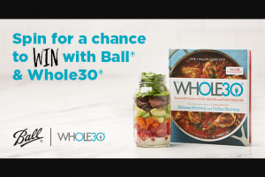 Rubbermaid – Ball Home Canning Whole30 Instant Win Sweepstakes