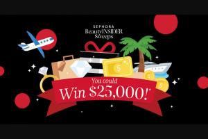 Sephora – Beauty Insider January – Win a $25000 USD check