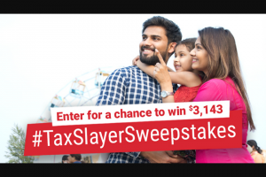 Taxslayer – The #taxslayersweepstakes – Win the prize will be forfeited and an alternate winner will be selected