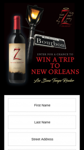The Wine Group – 7 Deady Nola – Win which consists of a three (3) day two (2) night trip for two (2) people to New Orleans LA