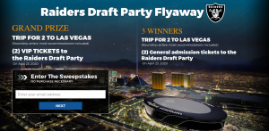 Allegiant Travel Company – Win a grand prize of a trip for 2 to the Raiders Draft Party in Las Vegas OR 1 of 3 minor prizes