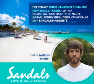 CMT Radio Live with Cody – Win a 4-day holiday for 2 to one of 15 Sandals Resort in Jamaica, Antigua, St. Lucia, The Bahamas, Barbabos, and Grenada