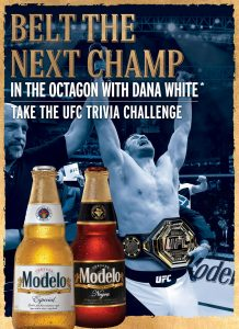 Crown Imports – 2020 Modelo UFC Spring – Win a grand prize of a trip for 2 to Las Vegas OR 1 of 200 minor prizes