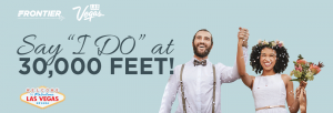 Frontier Airlines – #WeddingInTheSky – Win a grand prize package valued over $11,000 OR 1 of 3 minor prizes
