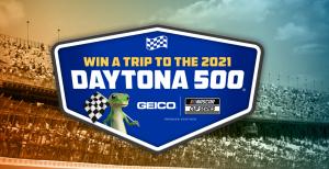 GEICO – Win a trip for 2 to Daytona Beach, FL to attend the 2021 Daytona 500