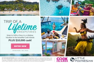 Meredith – Southern Living – Win a trip of a lifetime for 2 to the Cook Islands