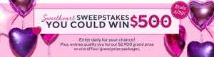 QVC – Win a grand prize of $2,900 in cash OR 1 of 29 daily cash prizes of $500 each OR 1 of 4 prize packs