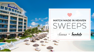 Soma – Win a 4-day vacation for 2 to one of 15 Sandals Resorts