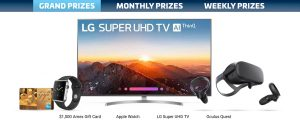 WAVE – Smart Home Smart Win – Win 1 of 7 grand prizes including a $1,000 America Express gift card OR 1 of 78 other prizes