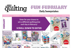 American Patchwork & Quilting – Fun February Daily Sweepstakes