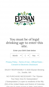 Anheuser-Busch – Elysian Tour Near Area 51 Sweepstakes