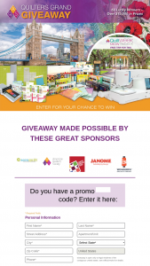 Aqs – 2020 Quilters Grand Giveaway Sweepstakes