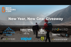 Backpackers – New Year New Gear Giveaway Prizes Sweepstakes