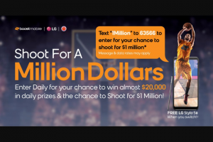 Boost Mobile – Shoot For A Million Dollars Sweepstakes