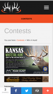 Buckmasters – Kansas Whitetail Hunt Giveaway Sweepstakes