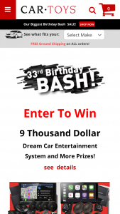 Car Toys – Dream Entertainment System Sweepstakes