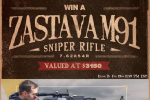 Classic Firearms – Win A Zastava M91sr Ak Sniper Rifle – Win a Zastava M91SR AK Sniper Rifle approximate retail value $3149.99.