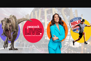 Comcast – Peacock Live At Universal Studios Hollywood – Win for the Grand Prize winner and up to three guests to Los Angeles California from March 26 2020 – March 30 2020 to attend Peacock Live