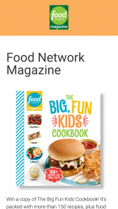 Food Network Magazine – Big Fun Kids Cookbook – Win one (1) Food Network Magazine Big