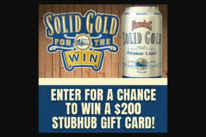 Founders Brewing – Solid Gold For The Win – Win one $200 StubHub gift card