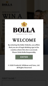 Frederick Wildman & Sons – Bolla Winter – Win one 50-inch flat screen high-definition television and a yearlong subscription to a streaming service of choice
