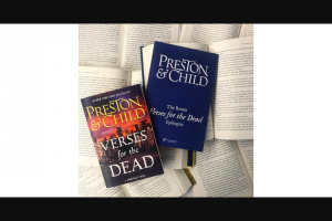 "Hachette Book Group – Verses For The Dead  Exclusive ""lost Chapter"" Sweepstakes"