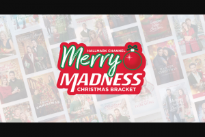 Hallmark Channel – Merry Madness Christmas Bracket – Win $10000 cash to be awarded in the form of a check payable to the Grand Prize winner