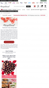 Harry And David – Valentine's Day Sweepstakes