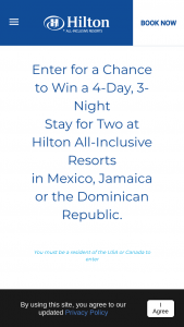 Hilton – Sweet Escape Sweepstakes