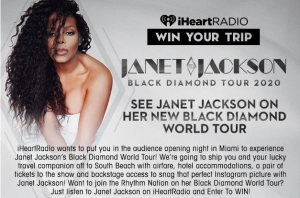 iHeart Radio – Win a trip for 2 to see Janet Jackson Perform in Miami