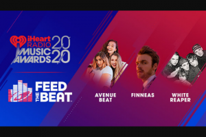 Iheartmedia – Taco Bell Feed The Beat – Win one (1) eligible guest to attend the iHeartRadio Music Awards in Los Angeles California on March 29 2020.