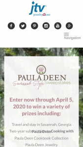 Jewelry Television – Paula Deen's Savannah Style Sweepstakes