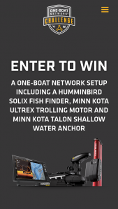 Johnson Outdoors Marine Electronics – One Boat Network Challenge – Win one (1) Prize Pack consisting of one (1) Humminbird SOLIX fish finder