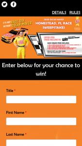 Kraft Heinz Foods – 2020 Oscar Mayer Nascar Miami Race – Win Prizes $50 Publix gift card