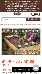 Lehman's – Spring Into A Shopping Spree Sweepstakes