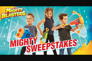 Little Tikes – Mighty Blasters Mighty – Win (1) Mighty Blasters Mighty Bow (1) Mighty Blasters Boom Blaster (1) Mighty Blasters Dual Blaster
