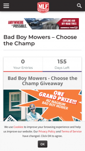 Major League Fishing – Bad Boy Mowers Choose The Champ Sweepstakes