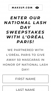 Makeupcom – L'oréal Paris National Lash Day – Win one L'Oréal Paris Voluminous Lash Paradise Mascara ARV is $10.99.