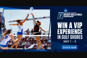 NCAA – Beach Volleyball Championships Ticket Giveaway Sweepstakes