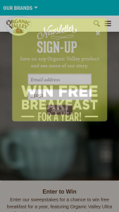 Organic Valley And Bob's Red Mill – 'breakfast On Us' Sweepstakes