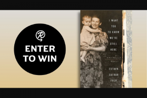 Penguin Random House – I Want You To Know We're Still Here – Win a copy of I Want You to Know We're Still Here by Esther Safran Foer