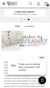 Riddle's Jewelry – Valentine's Day Giveaway Sweepstakes