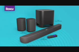 Roku – 2020 Surround Sound – Win of one Roku Smart Soundbar one Roku Wireless Subwoofer and one Roku TV Wireless Speakers set