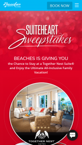 Sandals And Beaches – Valentine's Sweepstakes