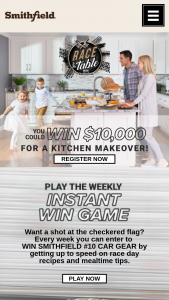 Smithfield – Race To The Table Instant Win And – Win be awarded in US Dollars in the form of a check payable in the name of the winner