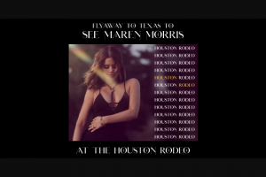 Sony Music Entertainment – Maren Morris Rodeohouston Weekend Flyaway – Win two (2) roundtrip