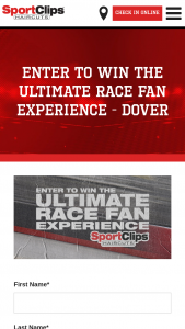 Sport Clips – Ultimate Race Fan Experience Sweepstakes