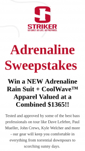 Striker Brands – Adrenaline Sweepstakes