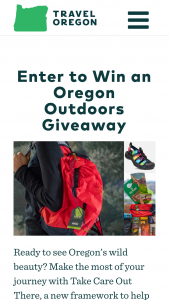 Travel Oregon – Oregon's Great Outdoors – Win a Grand Prize package that includes Public Lands Passes a One America The Beautiful annual National Parks and Federal Recreational Lands pass