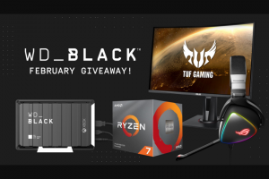 Western Digital – Black February Giveaway Sweepstakes